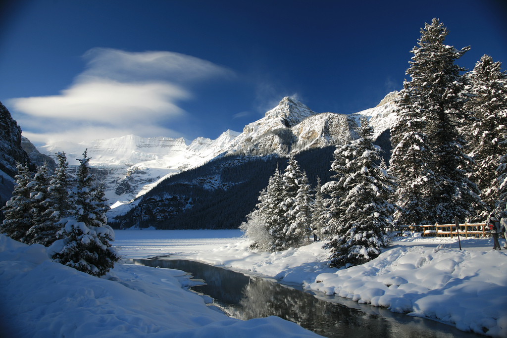 Piękne góry zimą.