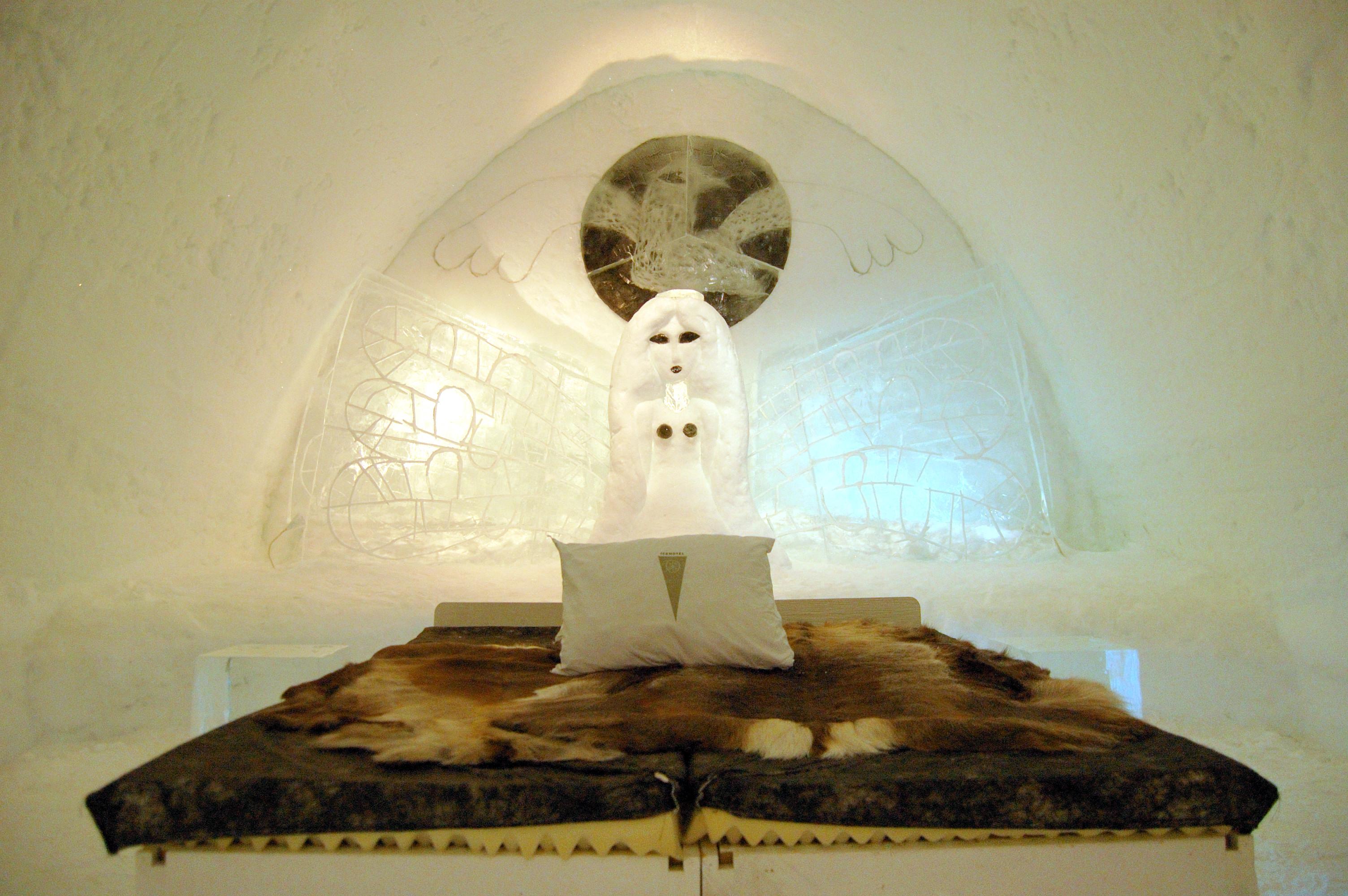 Nietypowe wakacje w lodowym pokoju