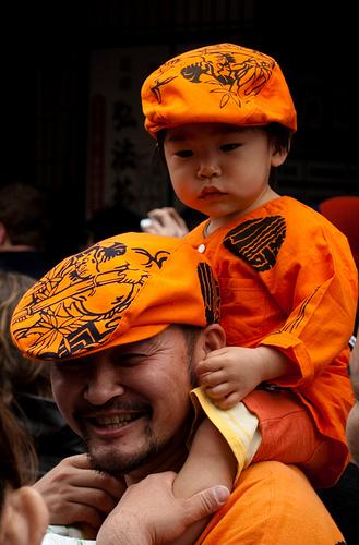 Japończyk z synem.