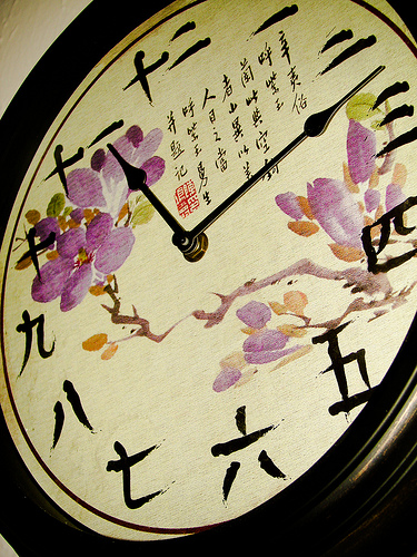 Japoński zegar.