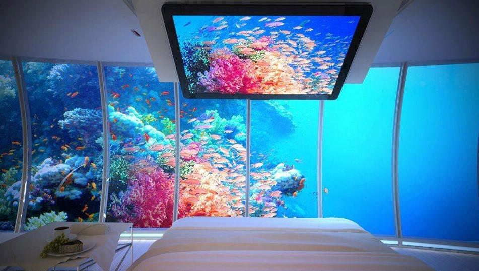 Podwodny pokój na Bora Bora.