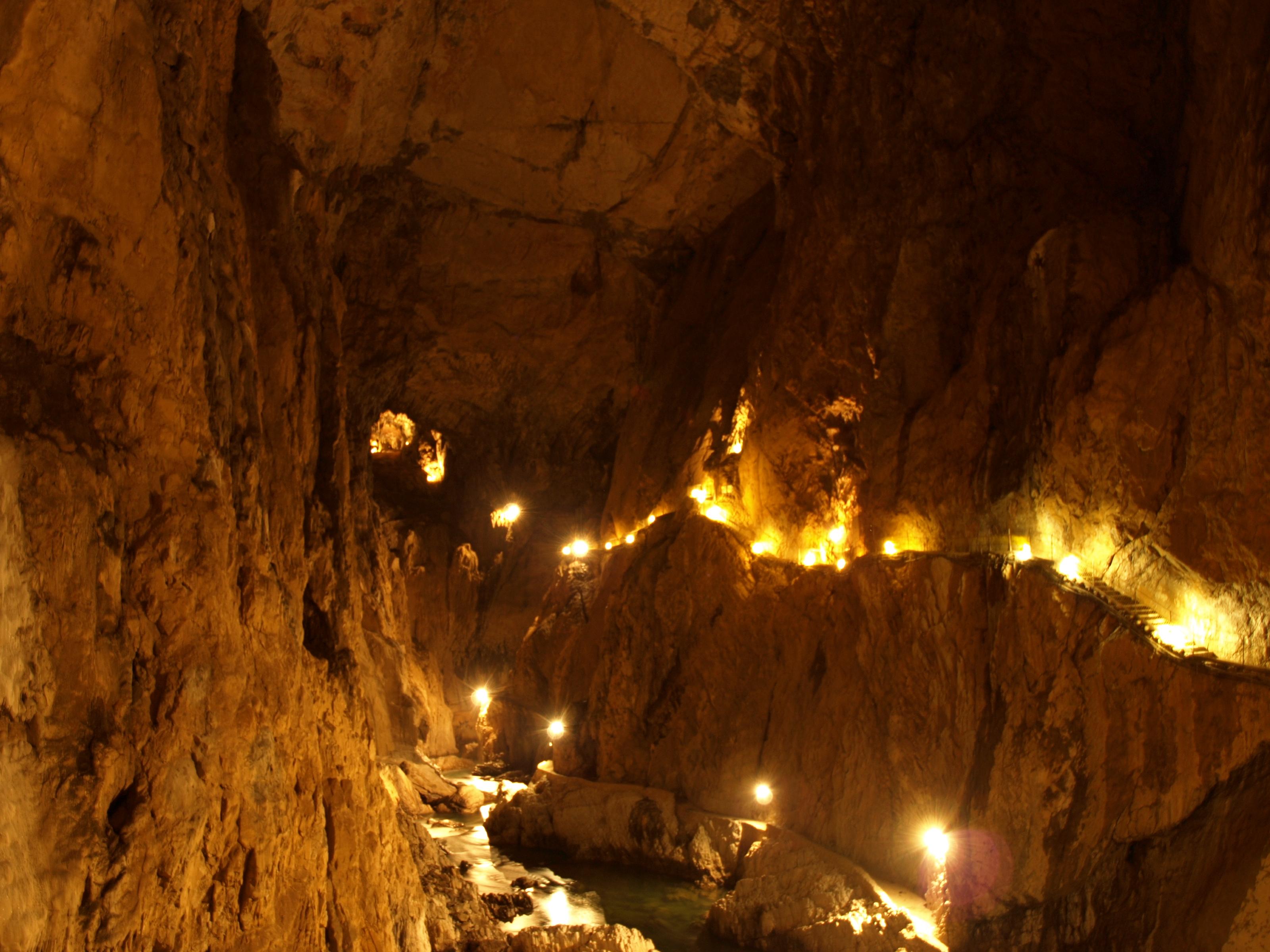 Wnętrze Jaskini Szkocjańskiej