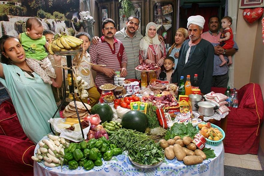 Rodzina z Kairu w Egipcie