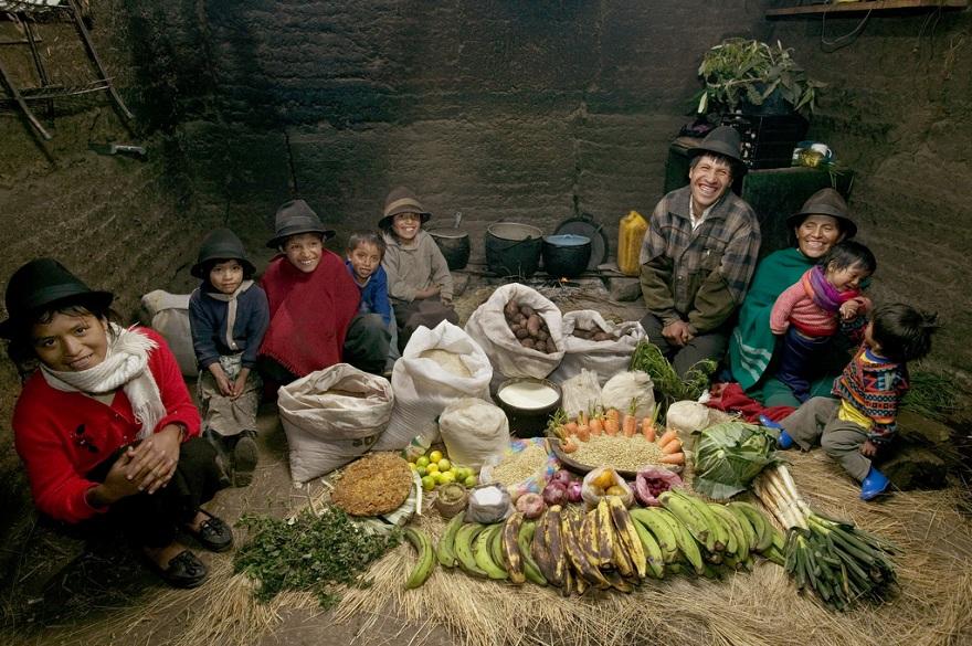 Rodzina z miasta Tingo w Ekwadorze