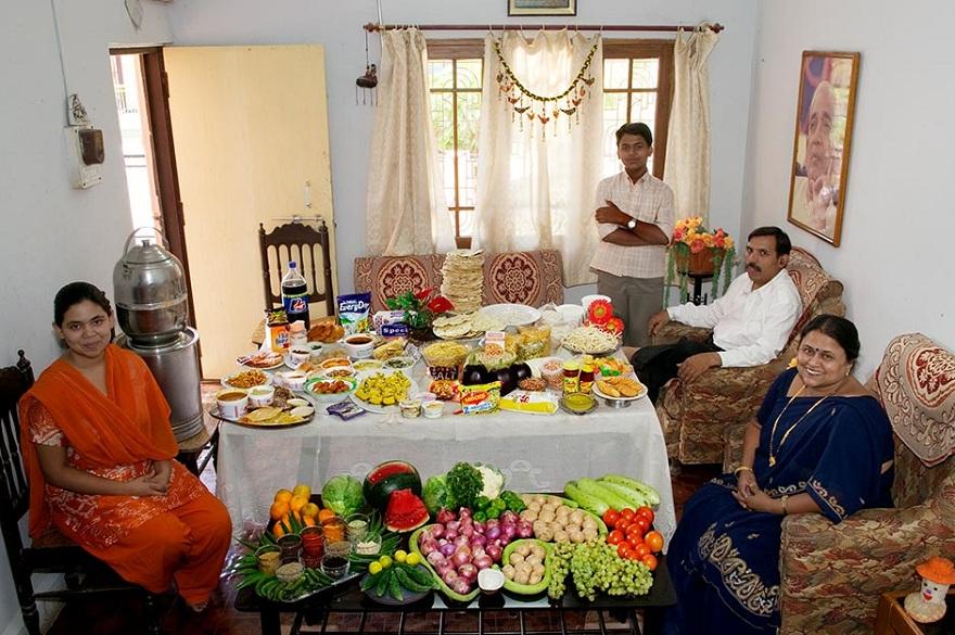 Rodzina z Ujjain w Indiach