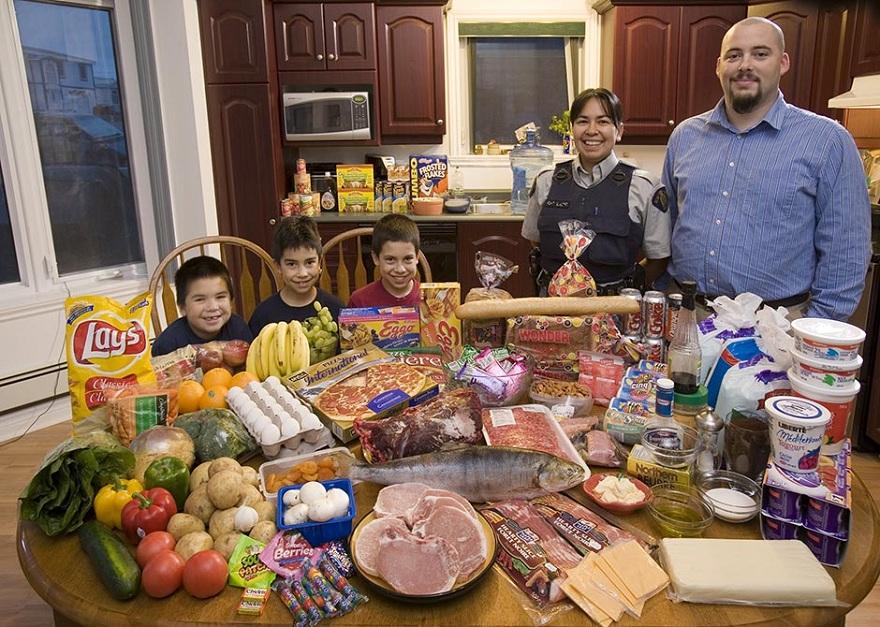 Rodzina z Iqaluit w Kanadzie