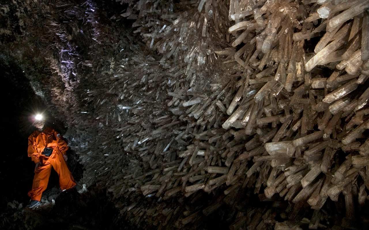 Wnętrze kryształowej jaskini