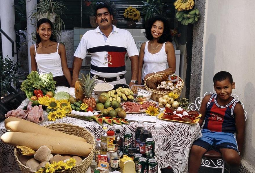 Rodzina z Hawany na Kubie