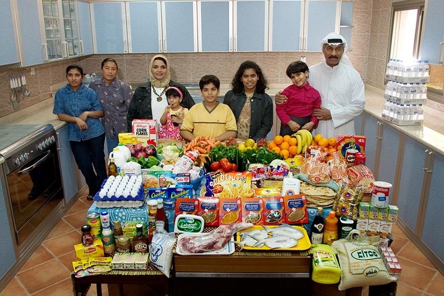 Rodzina z miasta Kuwejt w Kuwejcie