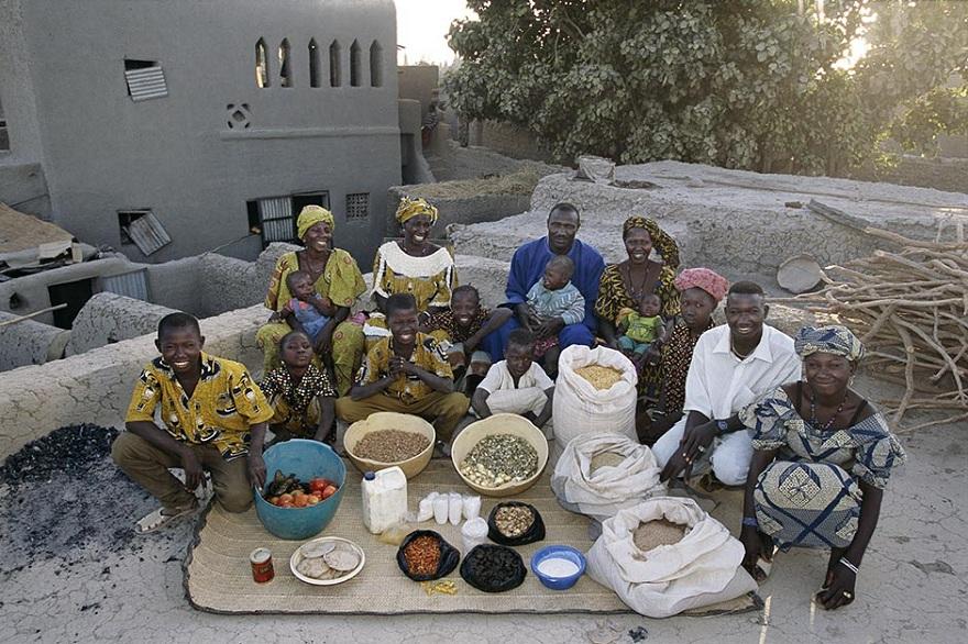Rodzina z Kouakourou z Mali