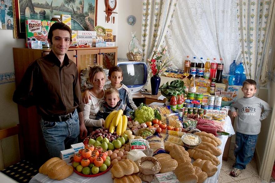 Rodzina z Palermo we Włoszech
